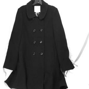 Kate spade hope coat with ruffled hem